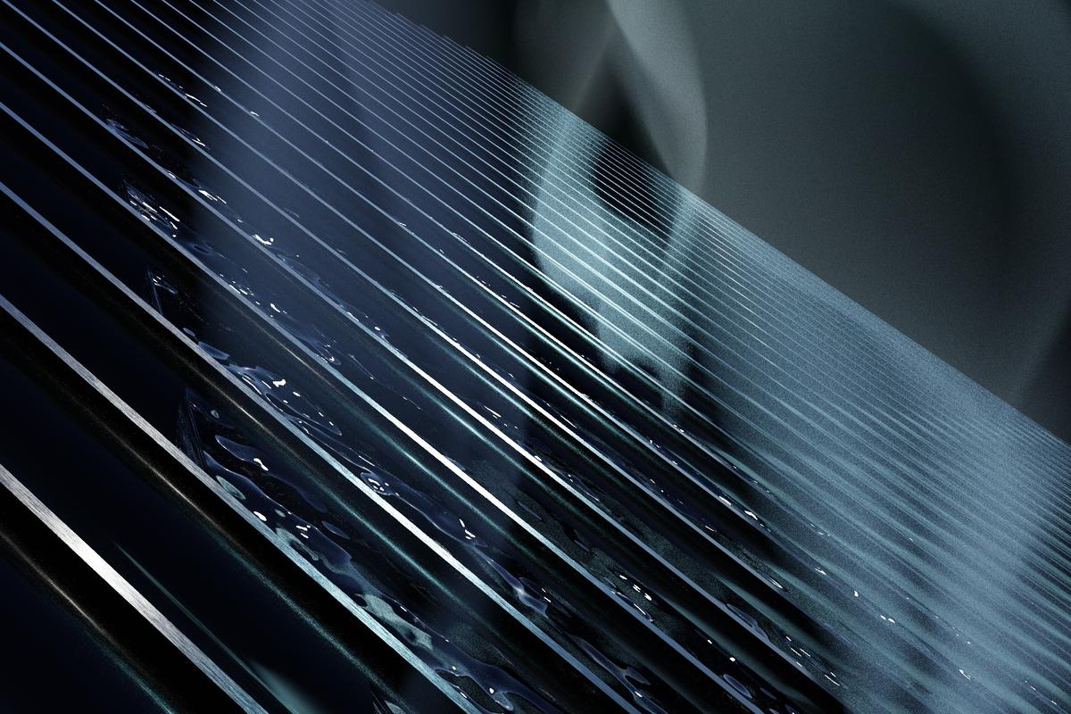 A render of the water-purifying aluminum panel