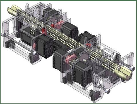 A 3D CAD model of the robot
