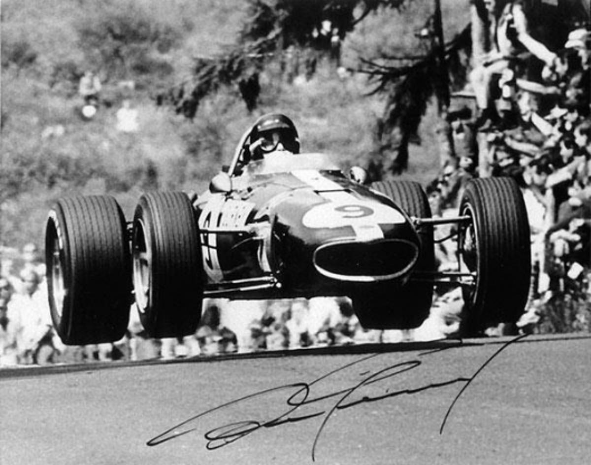 Dan gets air in Eagle at the 1967 German Grand prix at the famous Nurburgring circuit