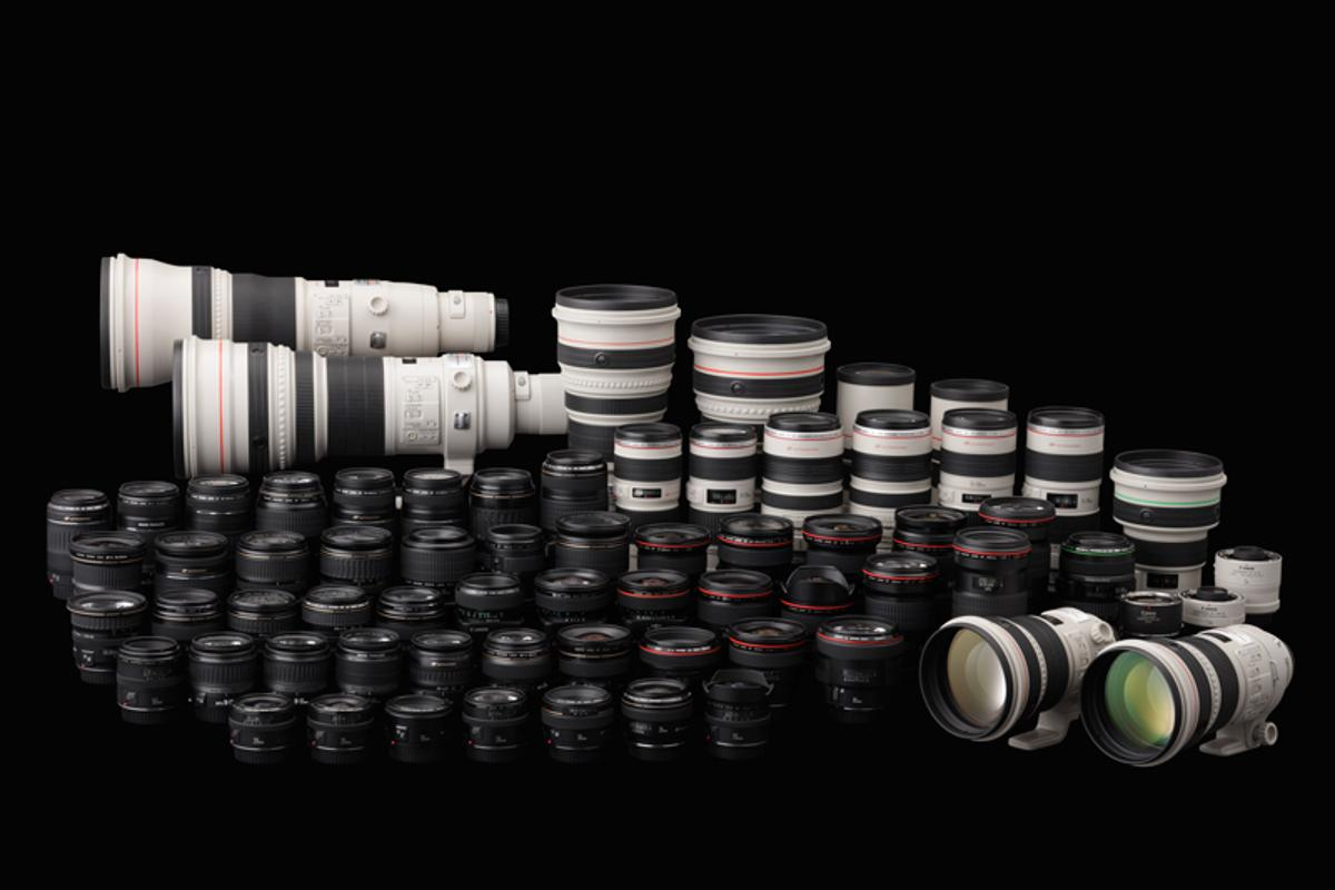 Adobe Lens Profile Creator speeds up lens correction (Pictured: Canon lens collection)