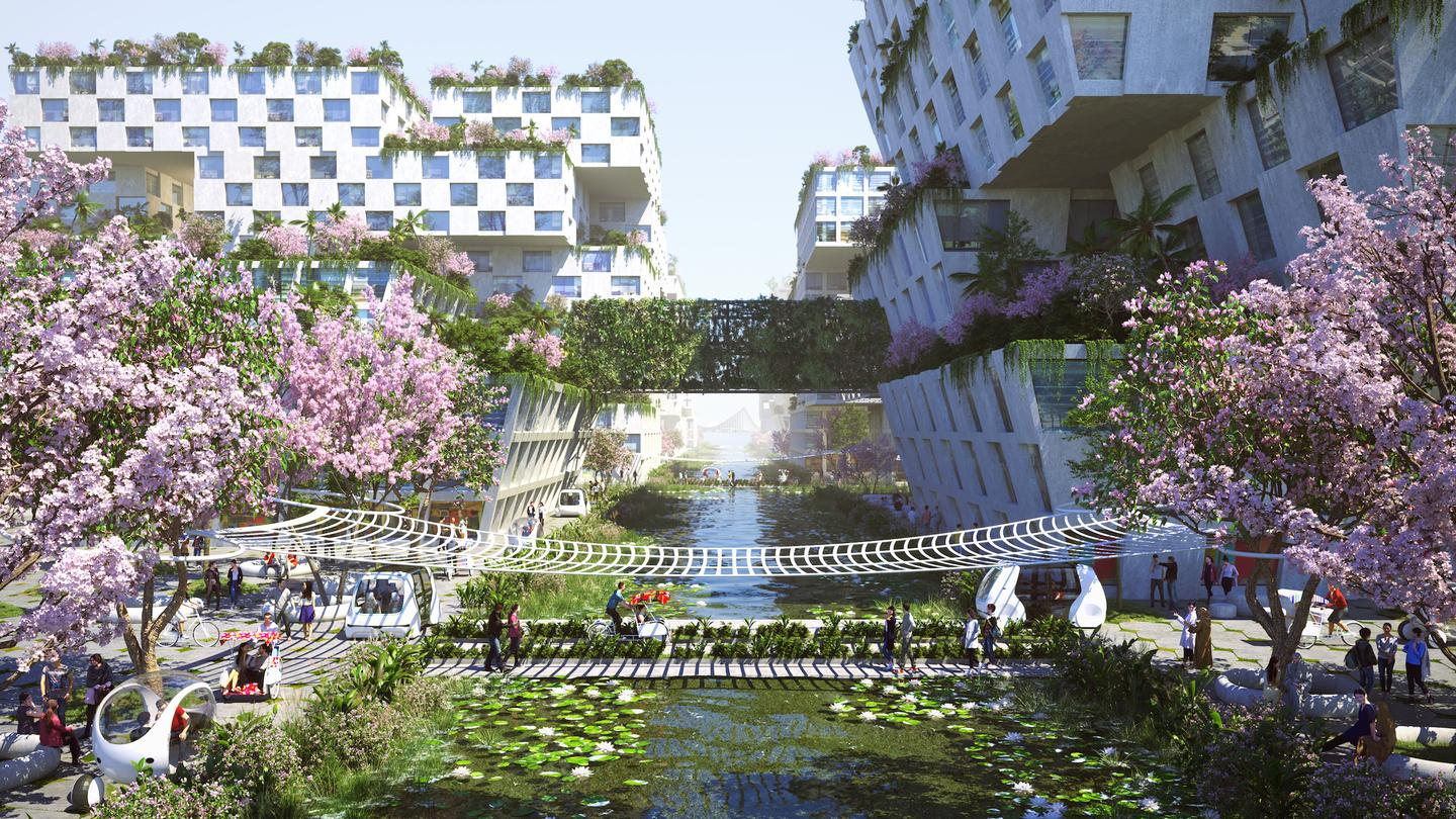 BiodiverCity's residential areas would host up to 18,000 people