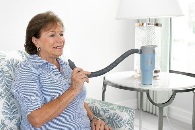 """Airwirl's extendable tapered """"air tube"""" provides cooling relief exactly where you need it"""
