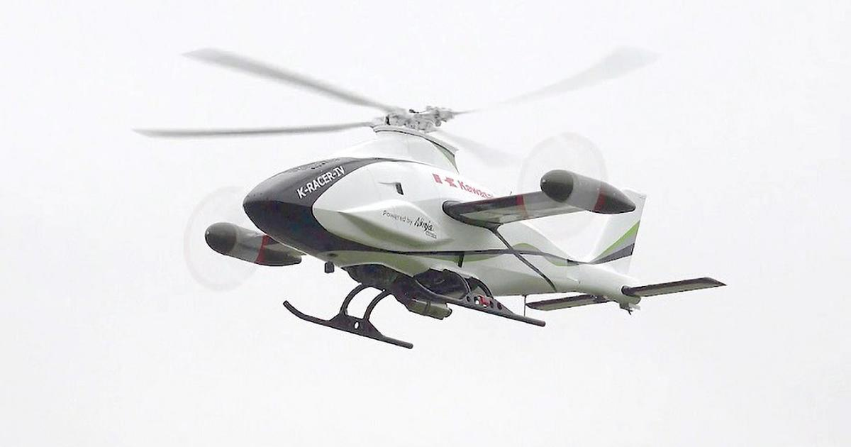 Kawasaki's K-Racer helicopter targets high speeds with H2R motor