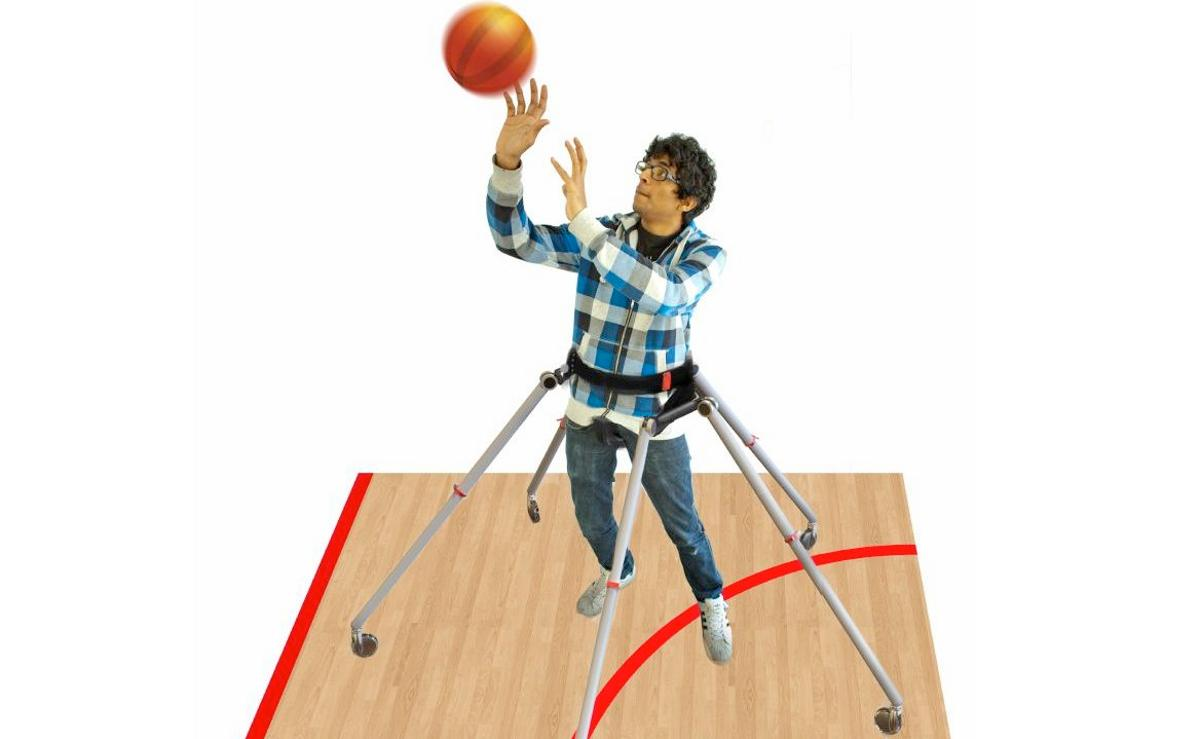 A rendering of the proposed production version of the Sports Walker