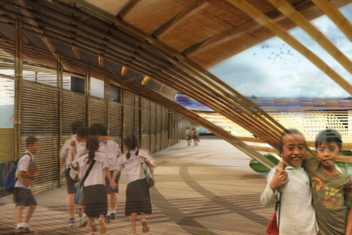 Californian studio MAT-TER has produced a concept for a typhoon-resistant school in the Philippines, to be built later this year (Image: MAT-TER)