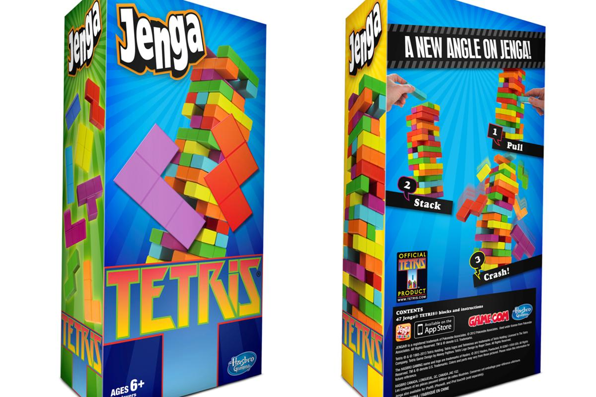 Jenga Tetris from Hasbro will combine the two well-known stacking games
