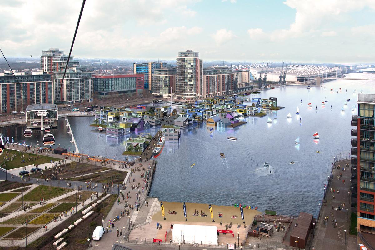 """Development consortium Carillion Igloo Genesis has won a competition to design and build the UK's first """"floating village"""""""