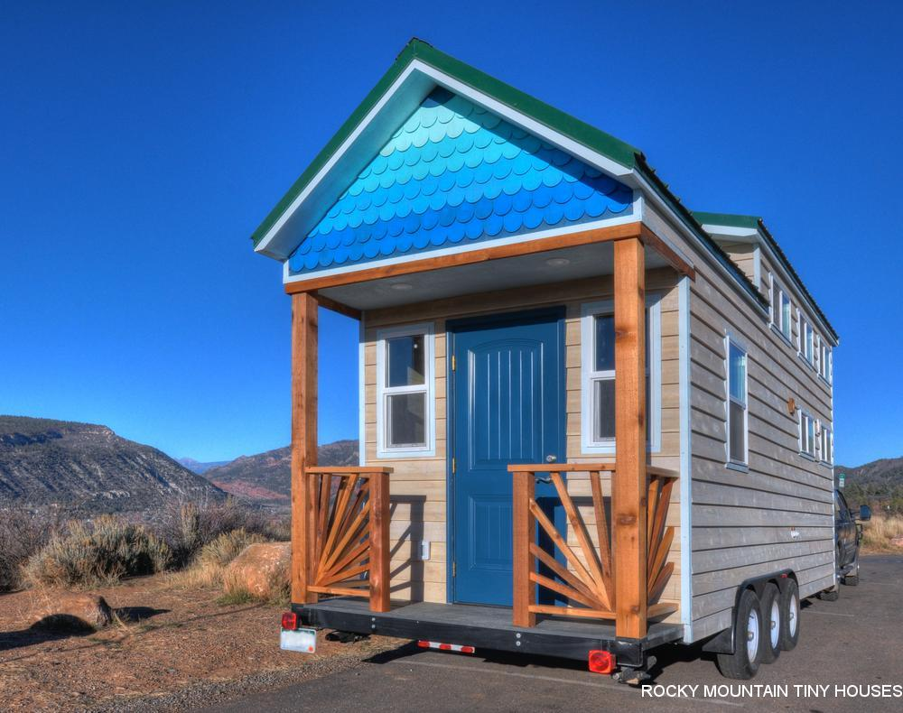 Rocky Mountain Tiny Houses estimates that if built from scratch, the Ol' Berthoud Blue would cost around US$87,000