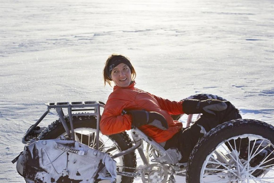 Maria Leijerstam with her White ICE Cycle
