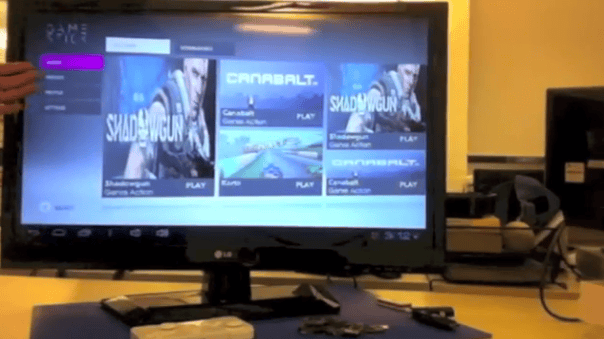 The GameStick Prototype running its UI