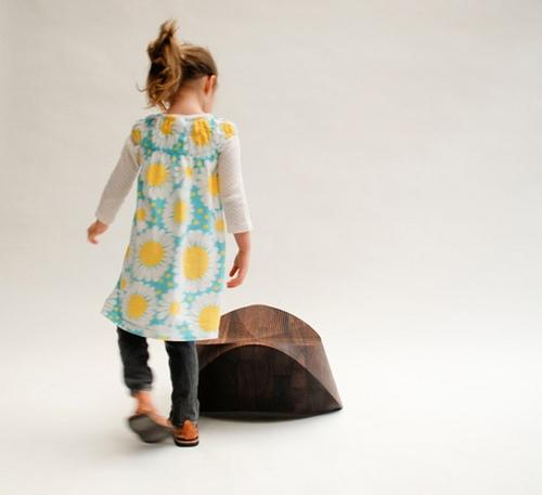 Hut-Hut Kids is a solid-wood rocking chair that is an eco-friendly, fun and modern take on the rocking horse