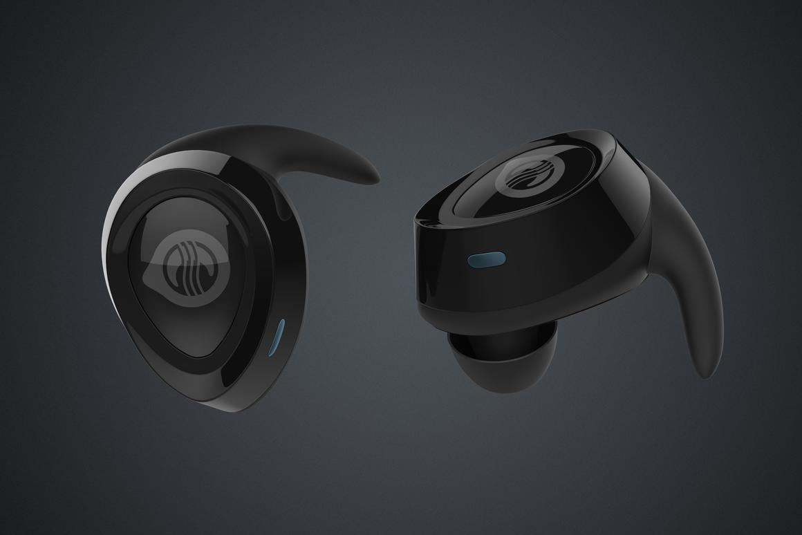 Two views of the Sleepbud earbud