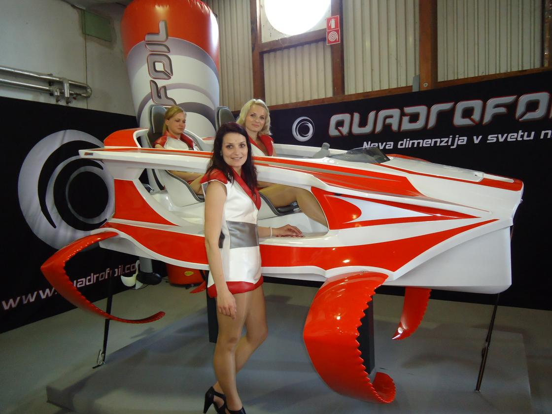 The Quadrofoil was shown to the world for the first time at Internautica last week