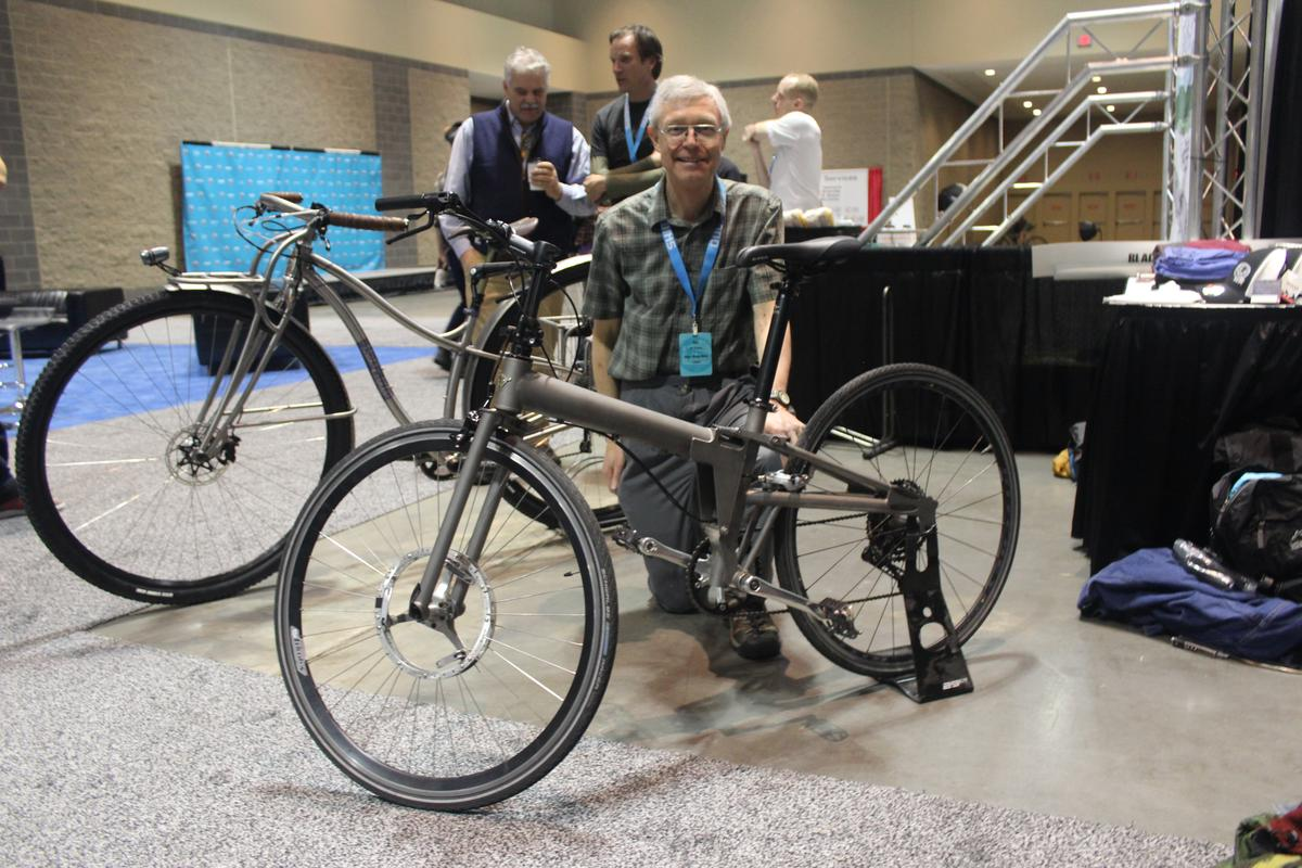 Bert Vermeulen with the Alpaca Bike at NAHBS 2018