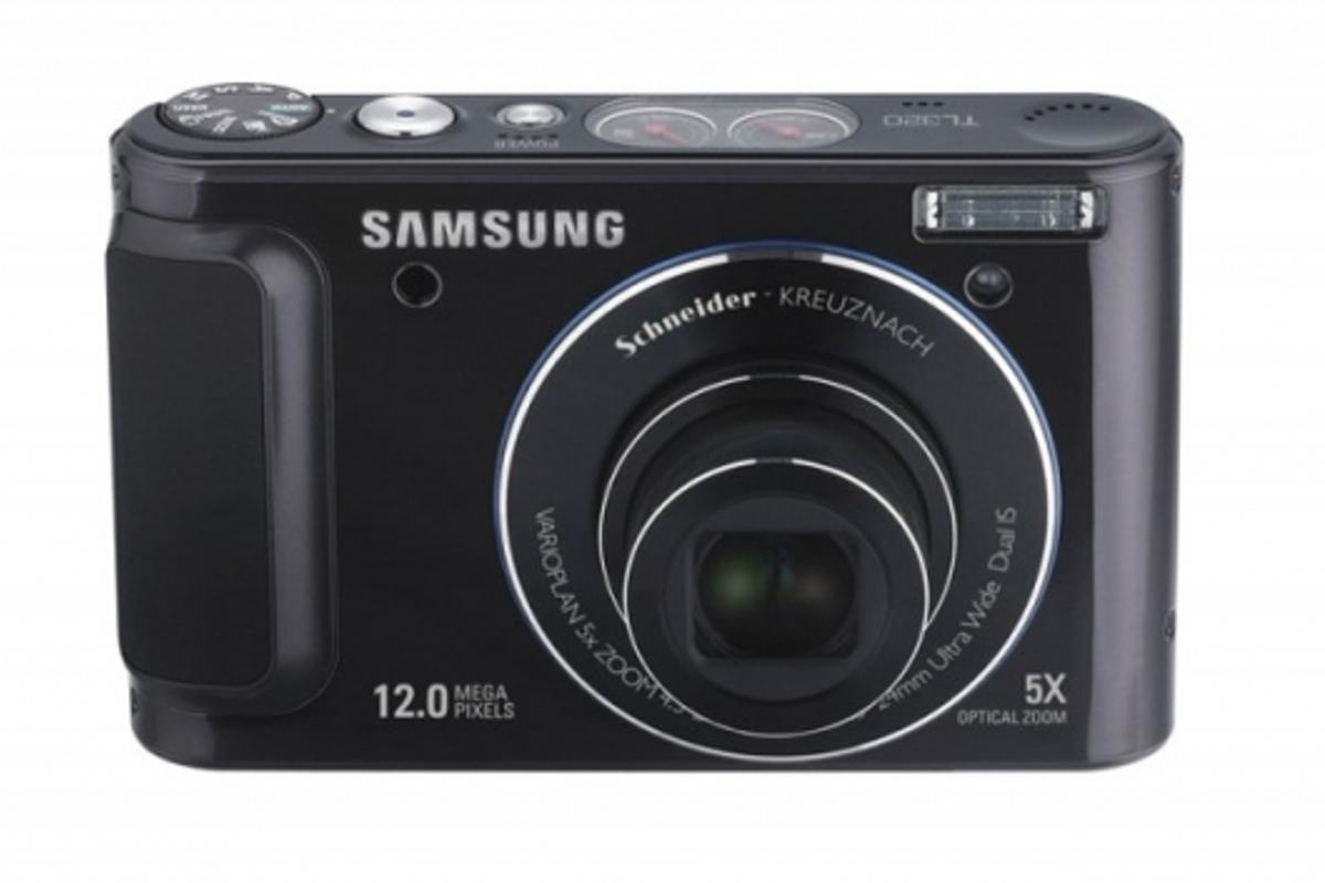 Samsung TL320, 12MP compact digital camera, front view