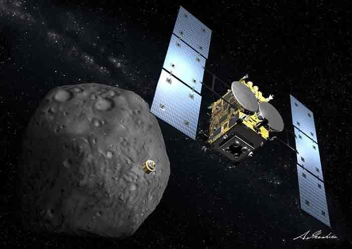 JAXA's Hayabusa 2 spacecraft launched for the asteroid Ryugu in 2014