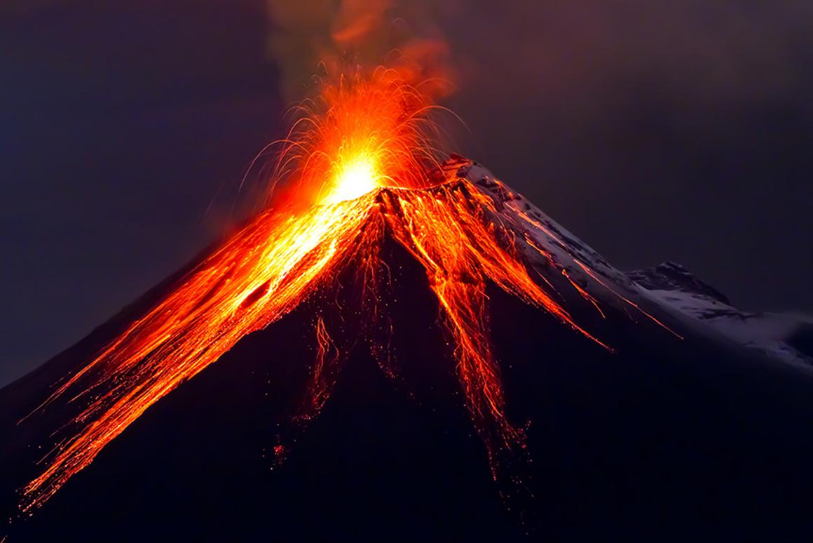 Researchers have discovered a strong historical link between global temperature increases and increases in volcanic activity (Photo: Shutterstock)