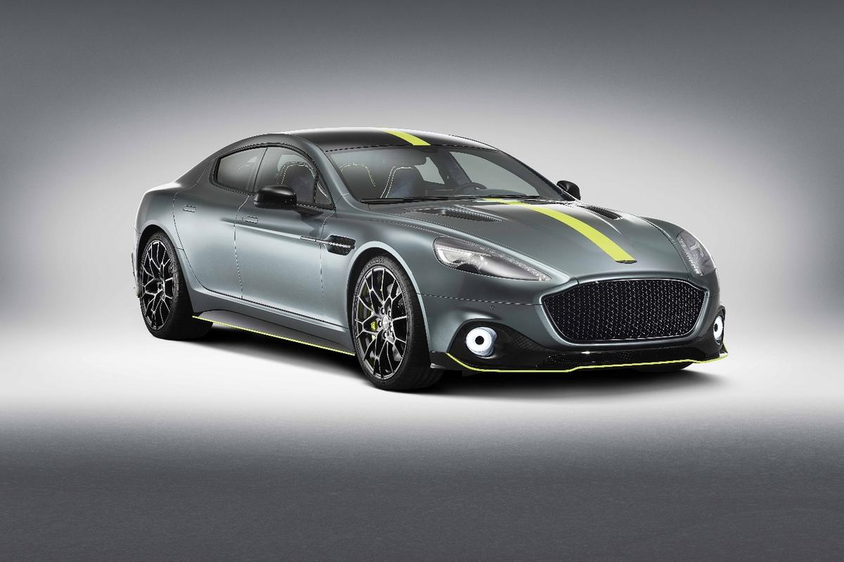 The Aston Martin Rapide AMR packs a595-hp engine thatgives a top speed of 205 mph