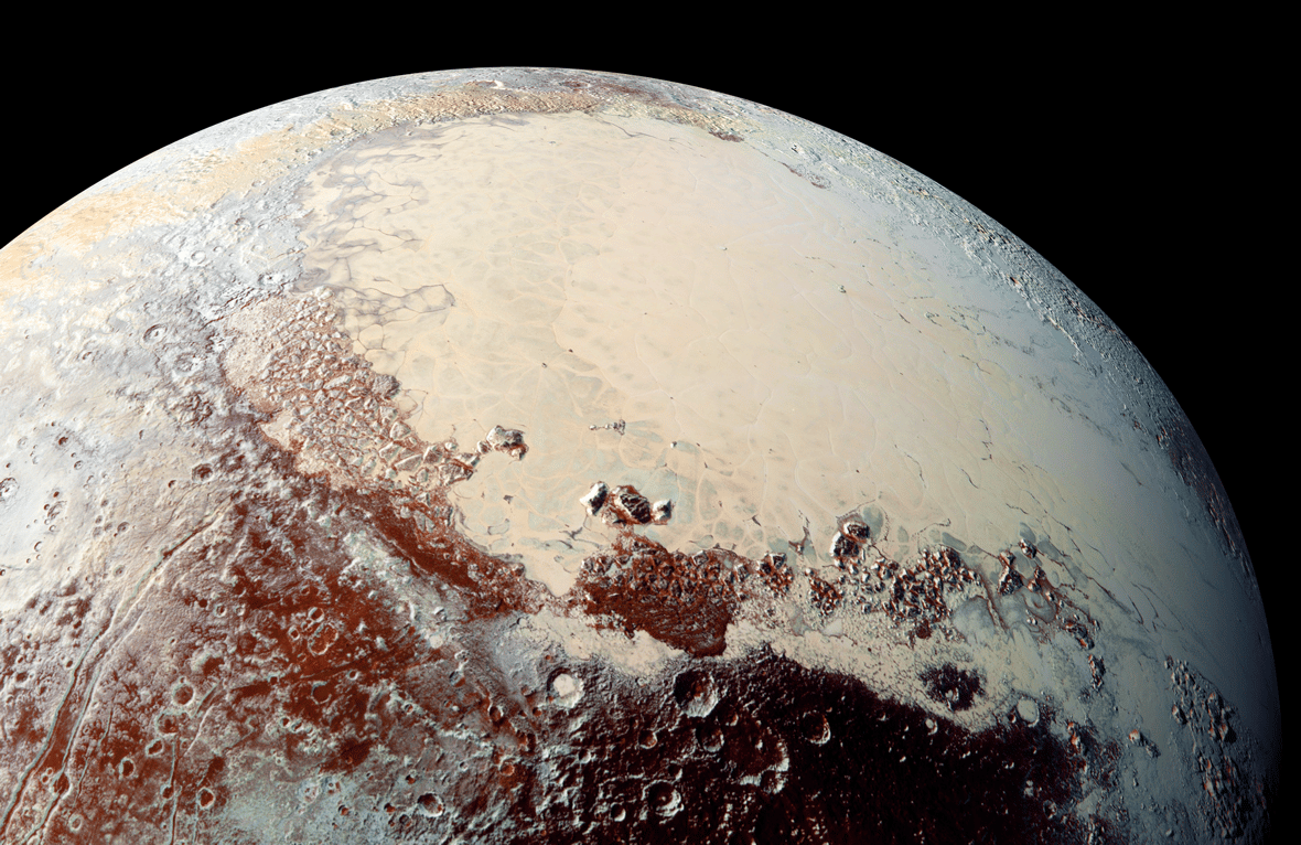 Surface detail on Pluto, captured by the New Horizons spacecraft