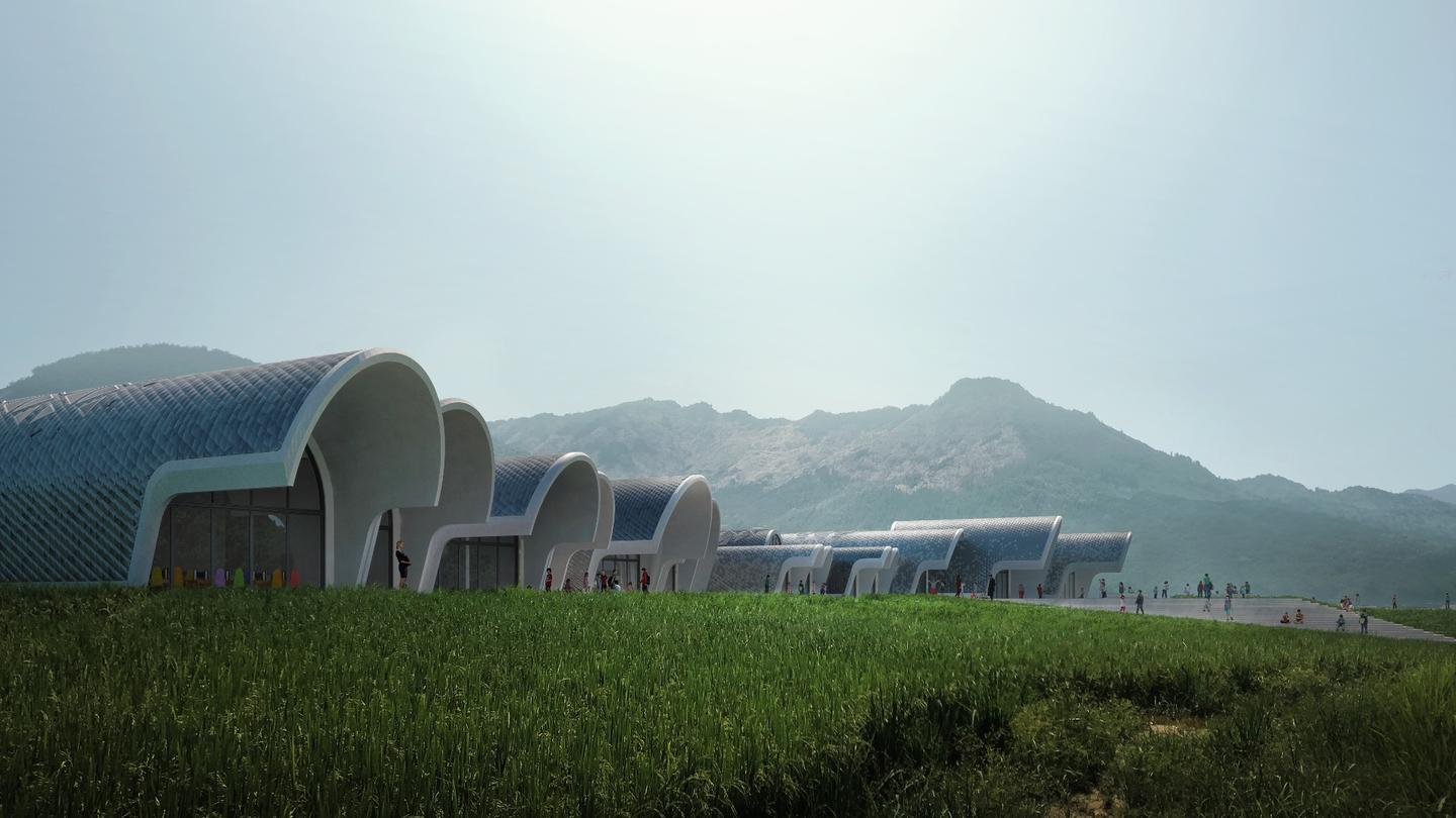The Lushan Primary School is slated for a rural area north-west of Nanchang, the capital of Jiangxi Province, China