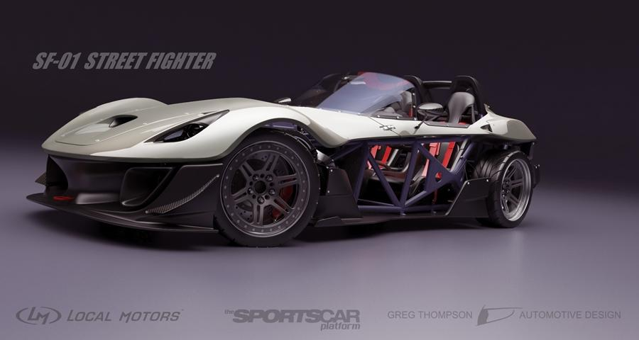Local motor has unveiled a new crowd-sourced sports car