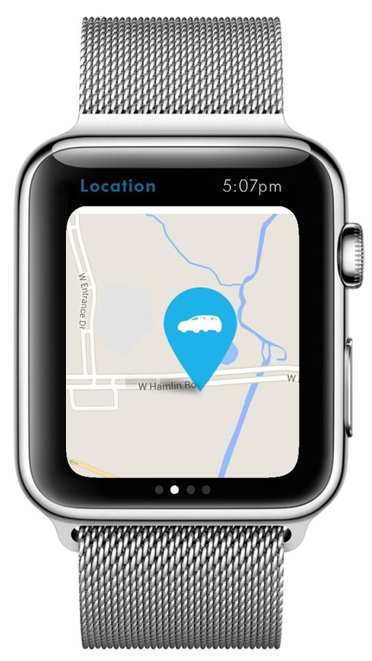The VW Car-Net app will help you find your car in a crowded carpark