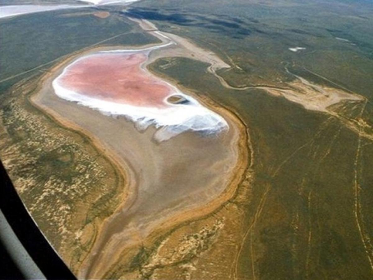 A present-day salt lake in the south of RussiaPic Credit: Dr. Ludwig Weißflog/UFZ