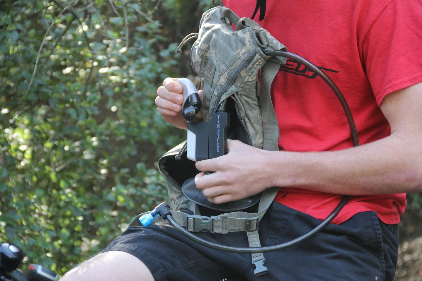 HybriFlow reportedly works with most popular hydration packs