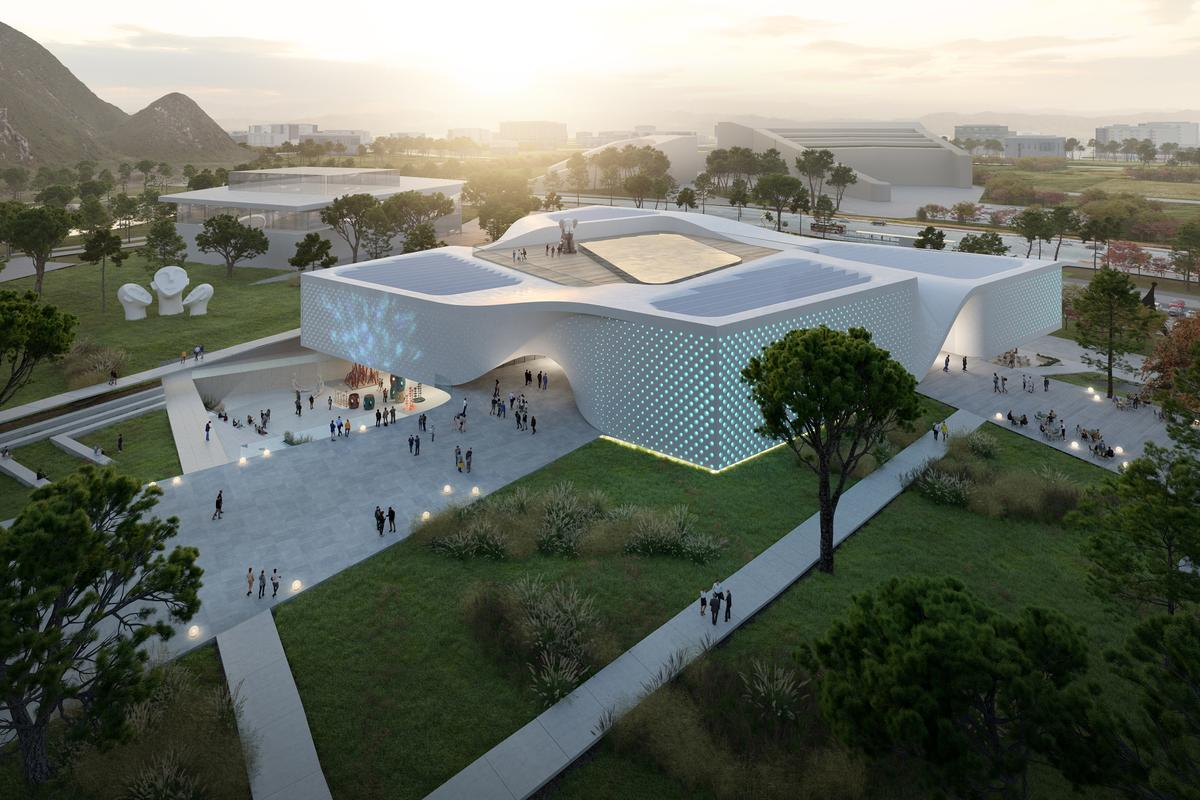 The Chungnam Art Museum will be topped by a rooftop terrace area that will also have a large skylight, ensuring lots of natural light enters inside