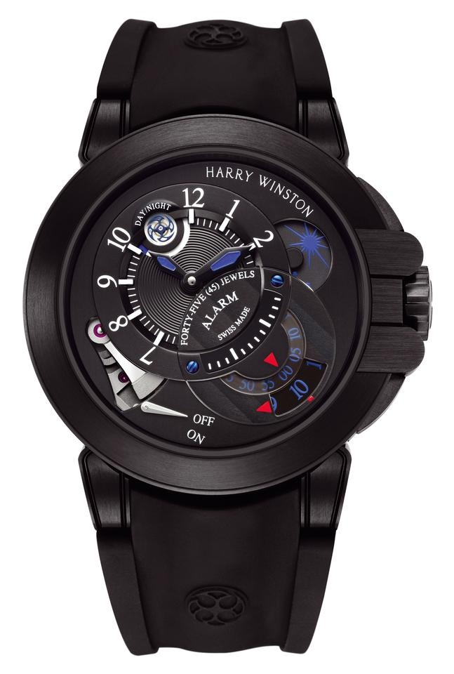 One of the Sports Watch finalists, the CHF 44,500 Harry Winston Project Z6 Black Edition