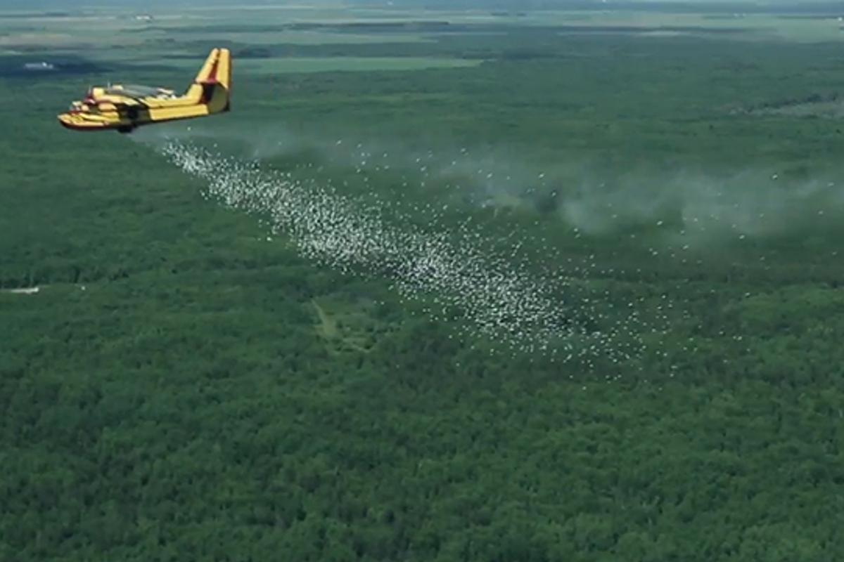 HyDrop allows for firefighting aerial drops from much higher altitudes