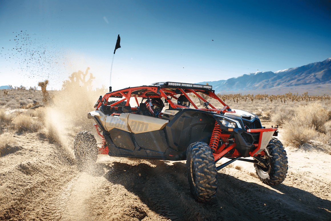 Can-Am provides off-road thrills for four with high