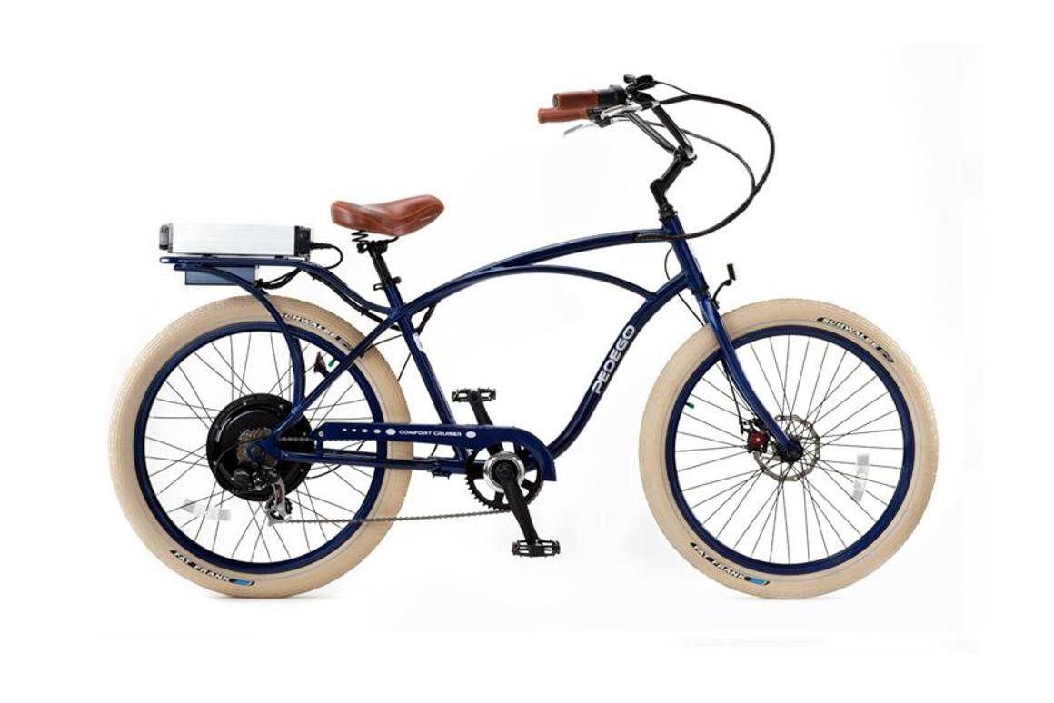 Pedego electric bikes are styled after classic beach cruisers