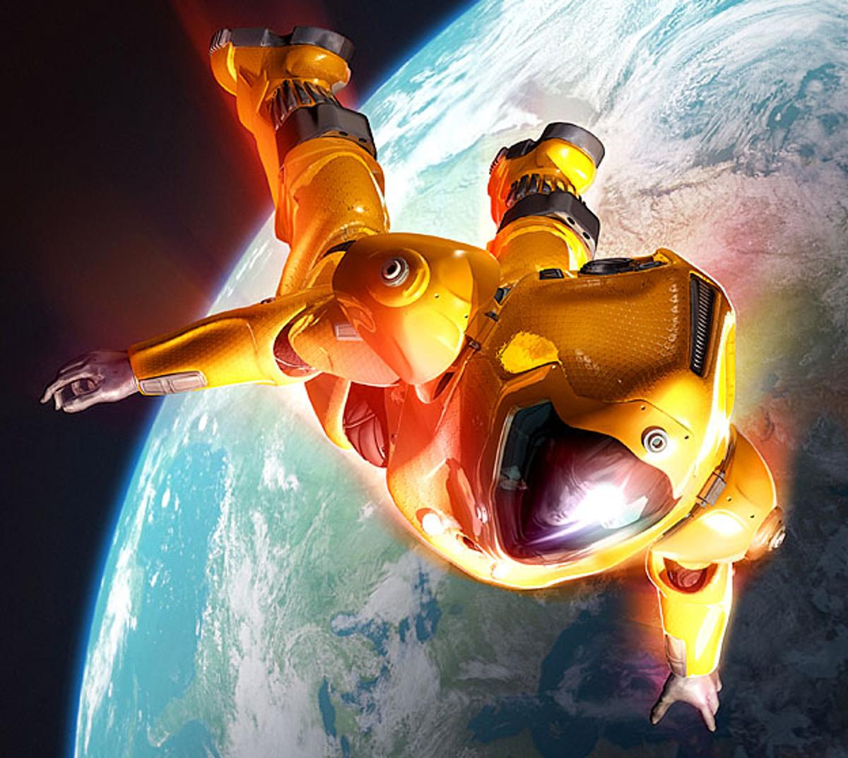 Space diving - extreme sport of the future (Photo: www.mondoart.net)
