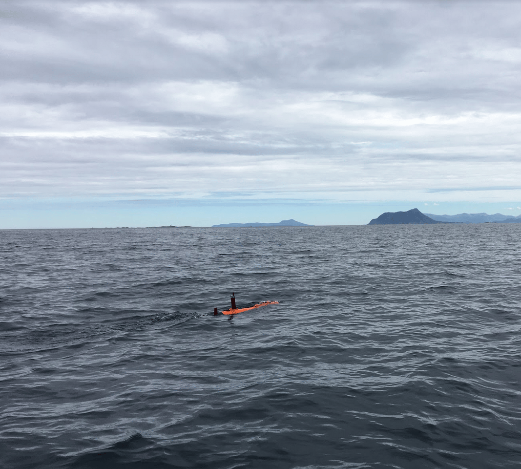 The Harald AUV off the coast of the island of Runde