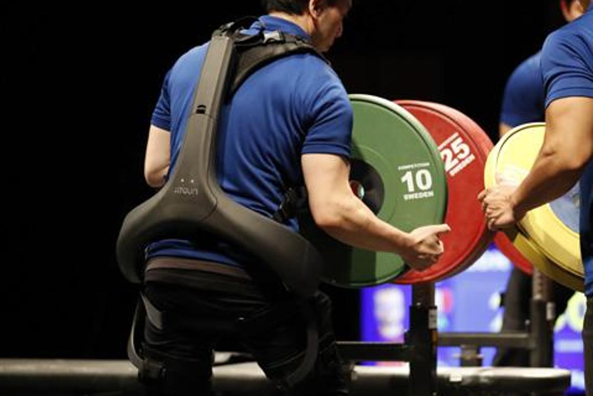 The Panasonic Power Assist Suit that will be used at World Para Powerlifting (WPPO) events and the Tokyo 2020 Paralympic Games