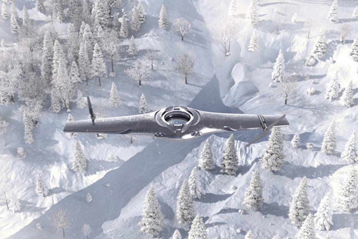 An Adaptive UAV, transitioning between fixed-wing and rotary wing modes