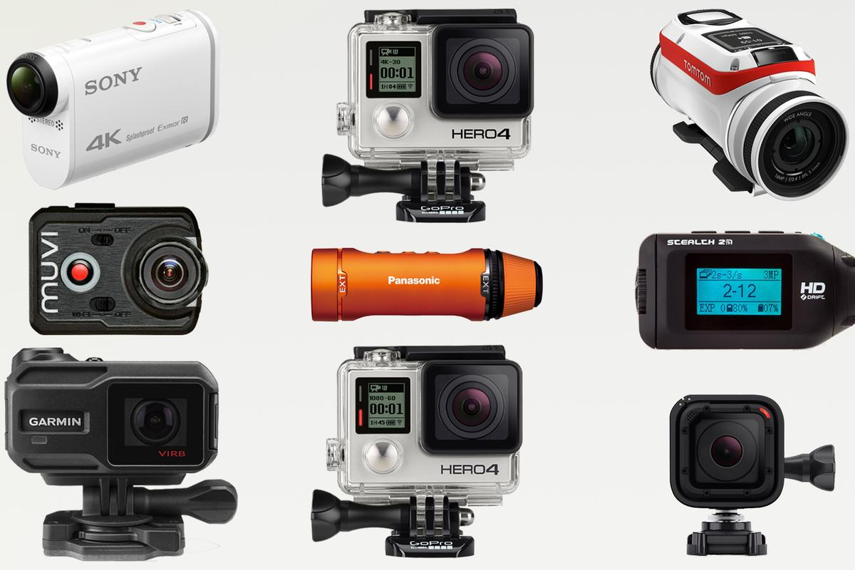 Gizmag compares the key specs and features of the best action cameras available in 2015