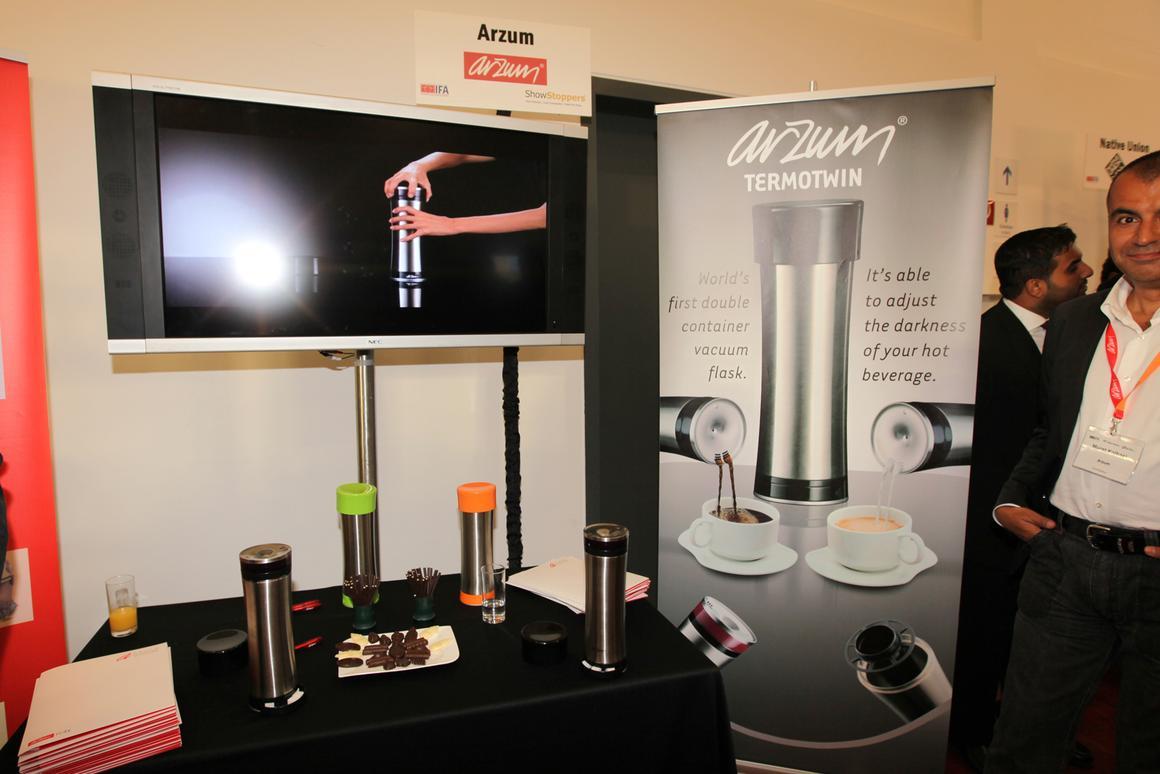 Arzum showcased the Termotwin - an ingenious vacuum flask - at IFA 2010