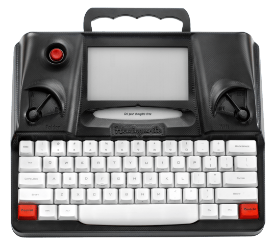 Hemingwrite combines a mechanical keyboard with Cherry MX switches and a 6-inch e-paper display