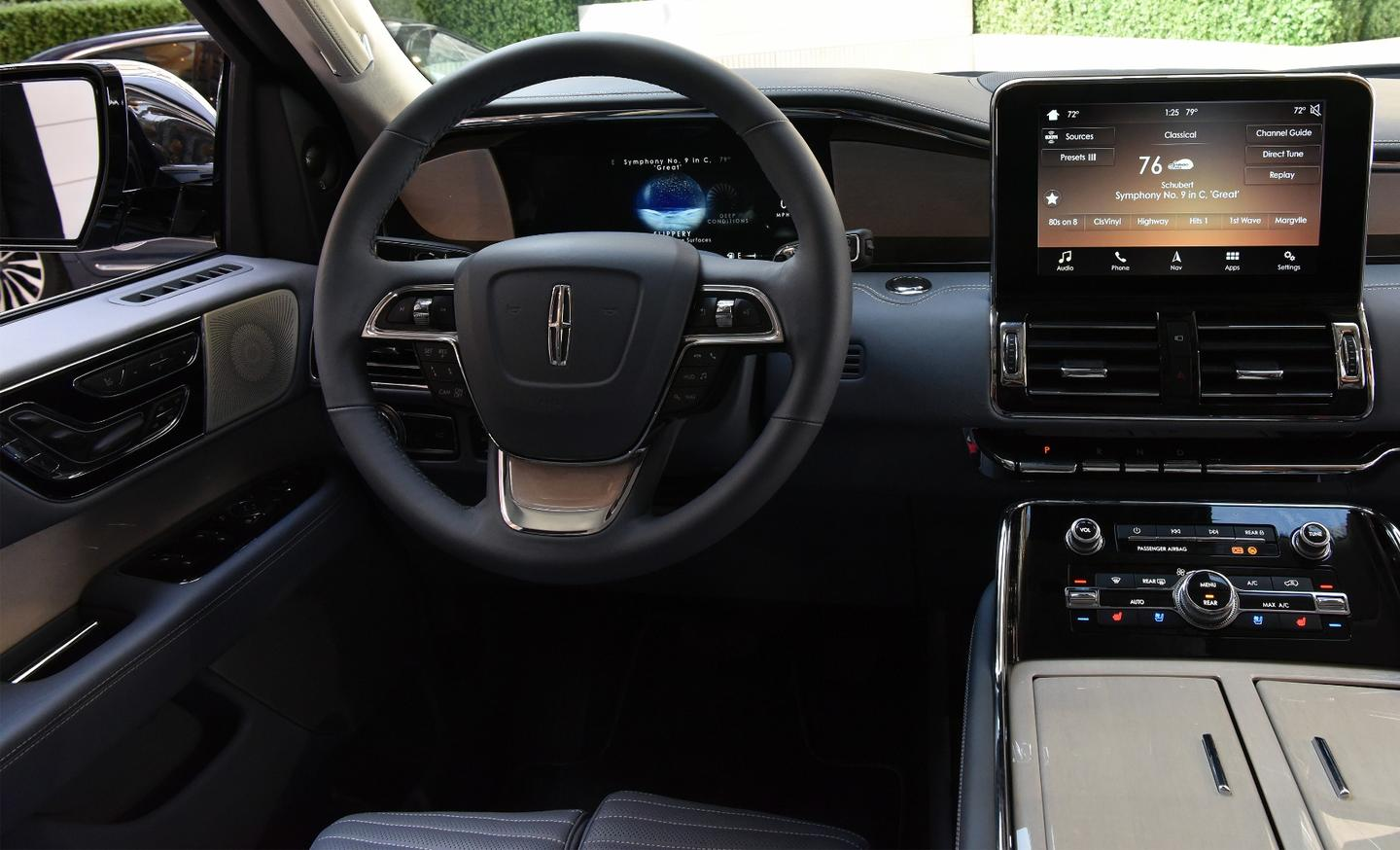 Behind the wheel of the Lincoln Navigator