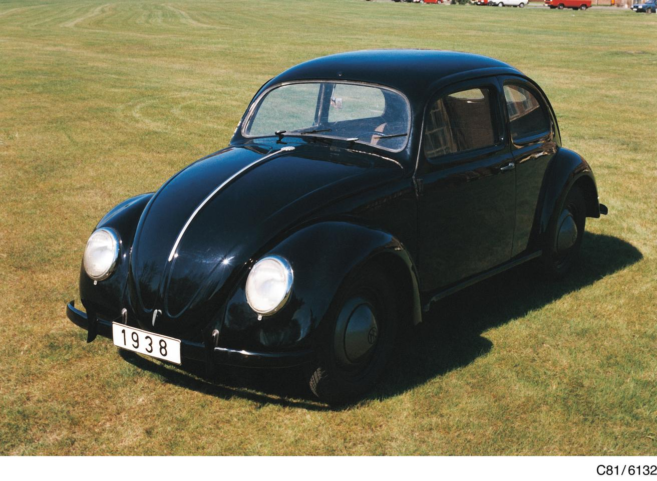 "VW 38, the first Volkswagen in its ""Beetle"" form"