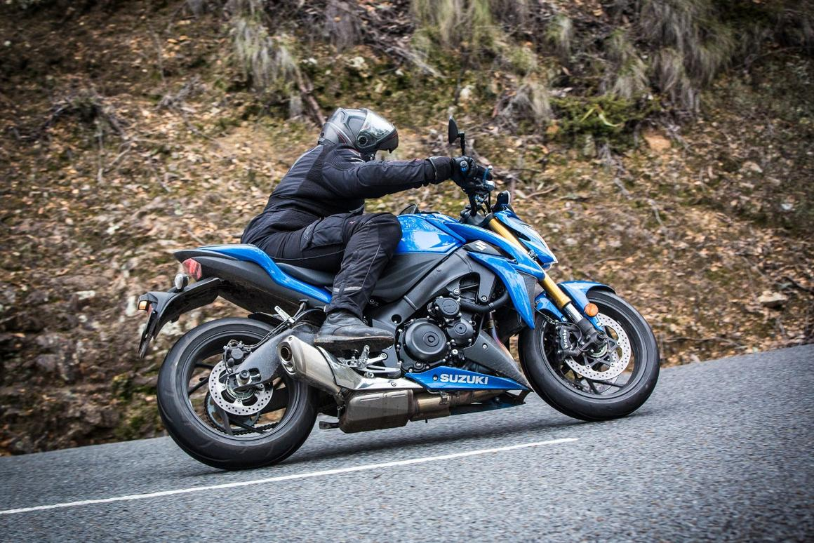 Suzuki GSX-S1000: standard exhaust system dulls the sound of that big Gixxer motor a little, but the induction sound keeps things exciting and involving from the rider's seat