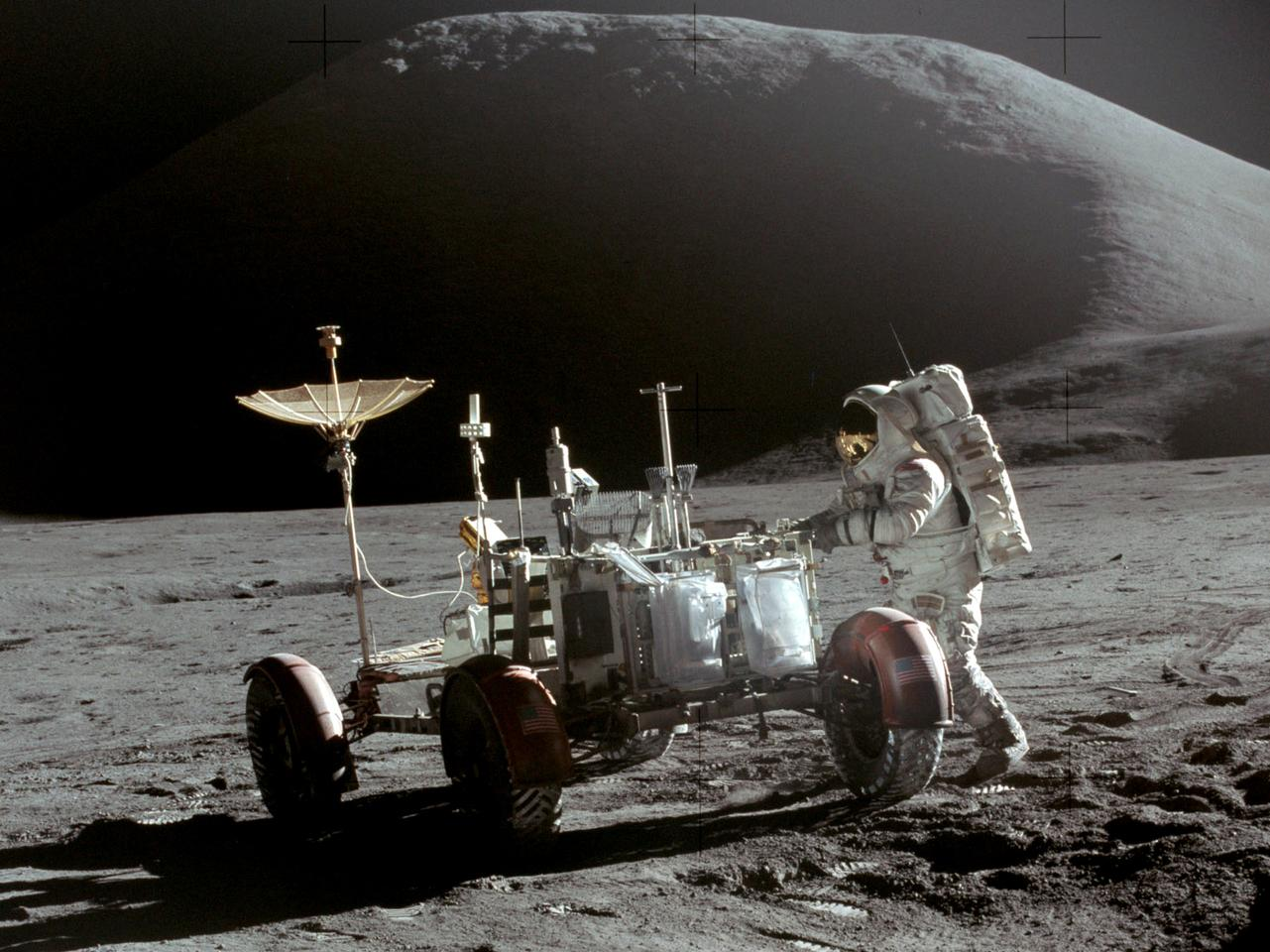 Lunar rilles similar to those explored by Apollo 15 in 1971 indicate the existence of giant lava tubes on the Moon (Image: NASA)