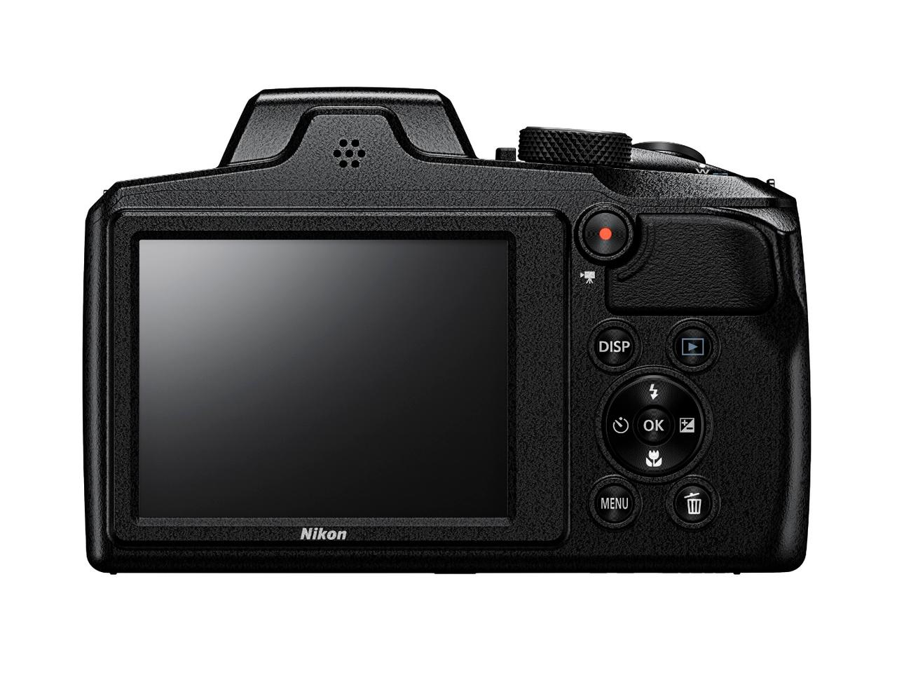 The Coolpix B600 features a 3 inch, 921k dot non-tilting, non-touch display panel