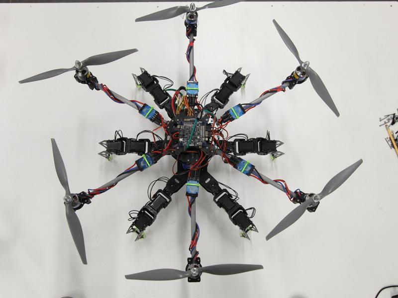 The Mad Labs team decided upon six rotors for stability