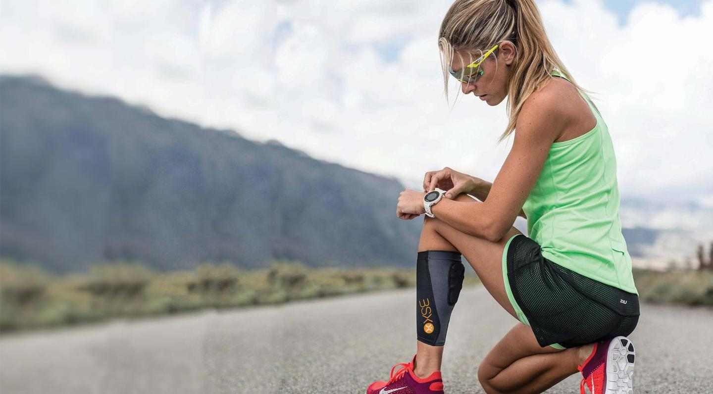 The BSXinsight measures lactate levels in the user's calf muscle