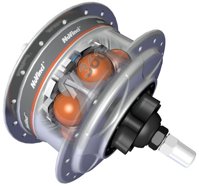 The NuVinci Harmony CVP transmission is based around the existing NuVinci N360 hub interface