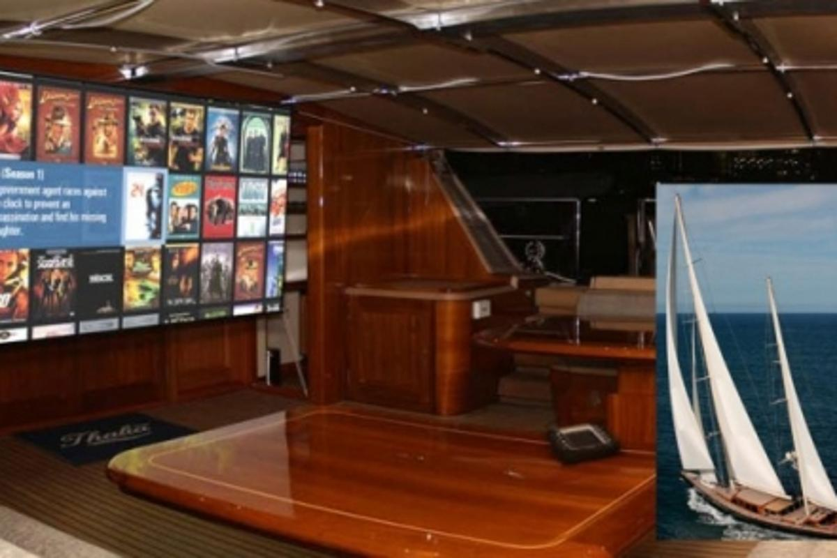 The 159-foot ketch is fitted out with an award-winning array of the latest and greatest AV gear that is usually reserved for luxury homes