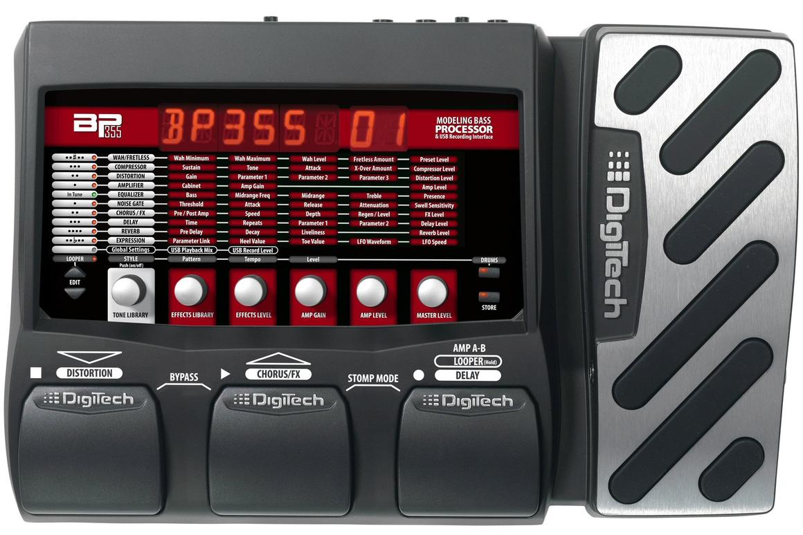 DigiTech has announced the forthcoming availability of a multi-effects processor for the bass guitar that puts hundreds of sounds, effects, amplifiers and speaker cabinets at a player's disposal